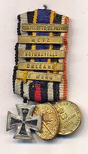 Seltene Miniaturspange 1870/71 mit Gefechtsspangen, Eisernes Kreuz - TOP