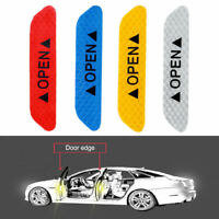 Safety Reflective Open Car Door Stickers Decal Tape Sign Warning Mark Vehicle