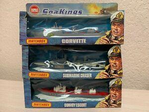 Matchbox Sea Kings Lot K-305 K-302 K-306 Submarine Chaser Corvette Convoy Escort