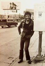 BRUCE SPRINGSTEEN clipping Born to Run billboard B&W photo 1975 Sunset Strip