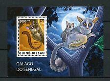 Guinea-Bissau 2015 MNH Senegal Galago WWF 1v S/S Bushbabies Bush Babies Stamps