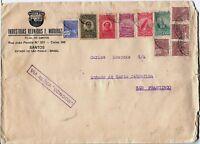 São Paulo BRASIL San Francisco USA Airmail Cover VIA AEREA Stamps Postage BRAZIL