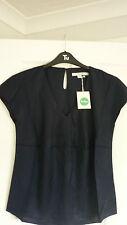 Viscose V Neck Business Short Sleeve Tops & Shirts for Women