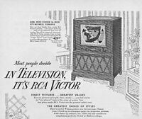 1949 RCA Victor Television Vintage Print Ad Finest Pictures Greatest Values