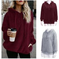 Women Long Sleeve Pullover Hoodie Hooded Fleece Sweat Shirts Outwear Tops US