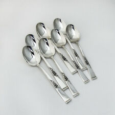 Classic Rose Place Soup Spoons Set Reed Barton Sterling Silver 1954