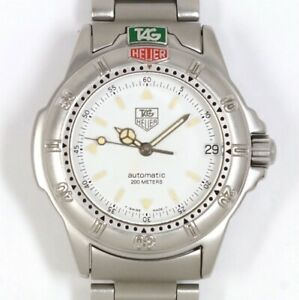 TAG HEUER 4000 Series 699.713K Automatic White Dial Stainless Boys
