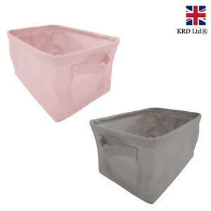 1 x Foldable Canvas Storage Box Collapsible Fabric Basket Home Shelf Organizer