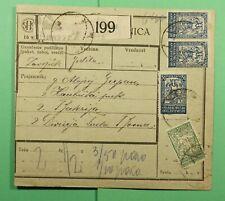 DR WHO 1921 SLOVENIA HRASTNIK PARCEL CARD TO TUZLA  f38068