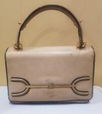 Vintage Loewe Ivory Leather Evening Bag Handbag - one of FIRST Designs!