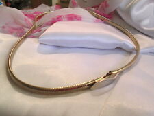 Vintage Women's Shiny Gold-tone Stretch Belt Fashion Accessory Length 27 inches