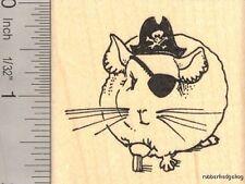 Chinchilla Pirate, Halloween Rubber Stamp H14109 WM