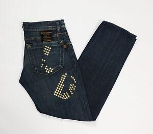 Pendium jeans uomo usato gamba dritta accorciati denim boyfriend luxury T3862