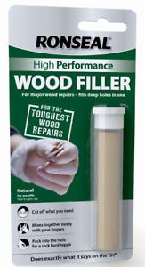 Ronseal High Performance Wood Filler Putty - 26g -Fills Deep Holes