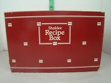 Shaklee Recipe Box with Recipe Cards in Box
