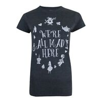 Disney - Alice In Wonderland - We're All Mad Here - Ladies Womens T-Shirt XS-XL