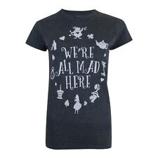 52181daf Disney - Alice In Wonderland - We're All Mad Here - Ladies Womens T