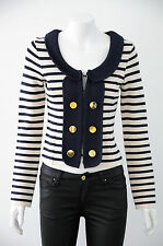 'Alannah Hill' Women's Long Sleeve Striped Cropped Jacket  {Size S / 10}
