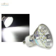 "20x GU10 FARETTO "" H10 SMD "" 15 LED BIANCO FREDDO 60lm 230V/0,75W,Lampadina Spot"