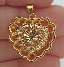 18K Gold Filled - Sweet Heart Hollow Bohemia Party Pendant Girlfriend Gift DS