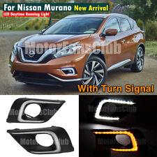 LED Daytime Running Light For Nissan Murano Fog Lamp DRL 2015 2016 Turn Signal