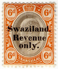 (I.B) Swaziland Revenue : Duty Stamp 6d