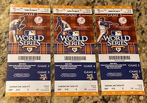 2010 New York Yankees Phantom World Series Stubs