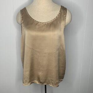 Vintage 80s Victorias Secret Gold Label 100% Silk Camisole Tank Top Medium