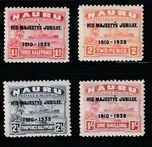 Nauru   1935   Sc # 31-34   Silver Jubilee   MLH   (4054-1)
