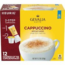 New listing Gevalia Cappuccino Keurig K Cup Pods with Froth Packets (30 Count, 5 Boxes of 6)