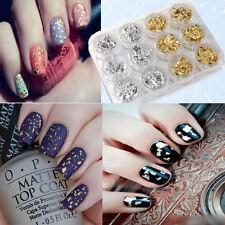 Paper nail art glitters ebay 12x pro nail art tip decor gold silver foil paillette flake acrylic uv gel paper prinsesfo Images
