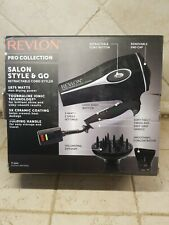 Revlon Pro Collection Salon Style & Go Folding Hair Dryer Retractable Cord Inop