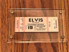ELVIS CONCERT TICKET UTICA MEMORIAL 1977