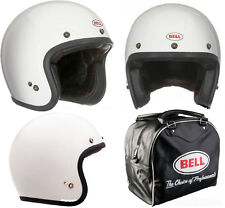 "CASCO JET 500 BY BELL (SOLID VINTAGE)WHITE) SIZE EU ""LARGE"""