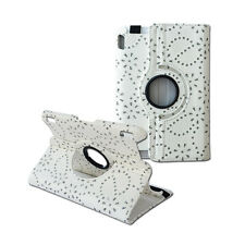"""Luxury 360 Rotation Diamond Floral Leather Cover Case for Kindle Fire HDX 7"""""""