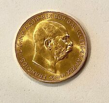 1915 Austria Gold 100 Corona Coin (Restrike) .9802 (Agw), Please See Other Gold