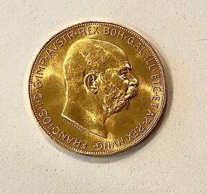 SALE __1915 AUSTRIA GOLD 100 CORONA COIN (RESTRIKE) .9802 (AGW), SEE OTHER GOLD