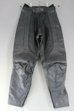 HEIN GERICKE LEATHER BIKER TROUSERS + CE ARMOUR SIZE 10: WAIST 28/INSIDE LEG 29""