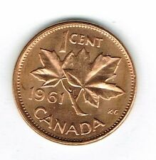 1961 Canadian Uncirculated One Cent Elizabeth II Coin!