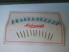 Antique Dressmaker Pins 12 pc card Glass Ball Heads Nos! Limited Supply 1915