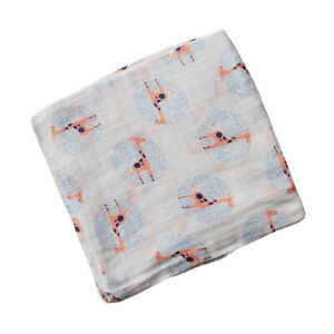 Bamboo Muslin Swaddle Blankets Neutral Receiving Wrap Blanket 120x120cm Square