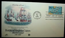 1981 FDC Art Craft Battle of Virginia Capes 18C Cover # 1938