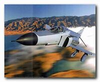 Military MD F-4 Phantom II Jet Aviation Aircraft Poster Wall Art Print (16x20)