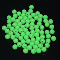 PRO 100xGLOW IN DARK Round Rig Beads Sea Fishing Lure Floating Float Tackle M0N0