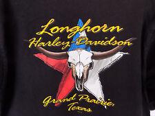 Harley Davidson Long Horn Grand Prairie Texas Shirt Eagle Pocket sz L