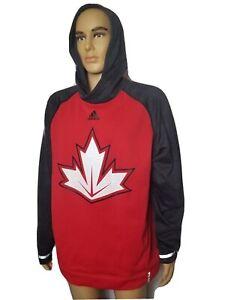 Team Canada Hockey Hoodie Sweatshirt World Cup Adidas Climawarm Maple Leaf XL
