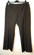 BROWN LADIES FORMAL WORK TAILORED TROUSERS SIZE 16 PETITE GEORGE