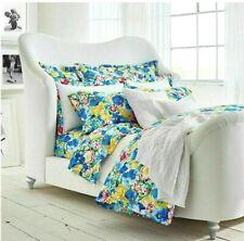 Ralph Lauren Ashlyn Queen Comforter & Euro Shams 3 Pc Set Blue Pink Floral New