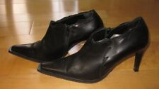 Vera Gomma Wms Blk Leather Western Style Ankle Boots 38 US 7.5 Italy