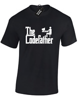 THE CODEFATHER MENS T SHIRT TEE FUNNY COMPUTER PROGRAMMER PC IT WORKER GIFT IDEA